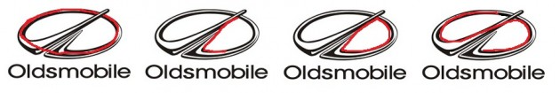 Oldsmobile word in logo