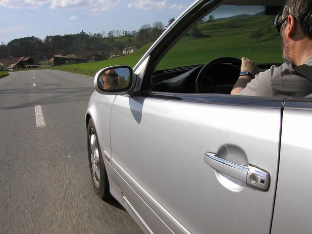 Skin cancer while driving in the car