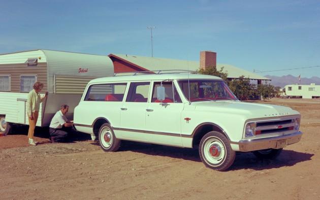 A 1967 Chevrolet Suburban