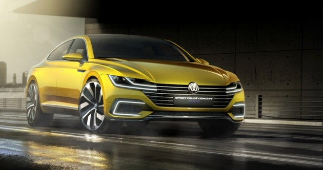 The new Volkswagen Sport Coupe GTE concept