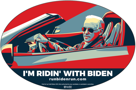 Joe Biden bumper sticker - I'm Ridin with Biden