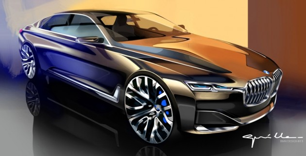 BMW Future Vision Concept drawing inspiration for BMW 7 Series design