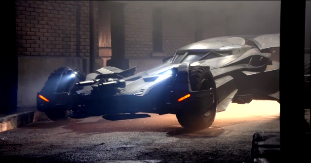 The new Batmobile from Batman v Superman: Dawn of Justice