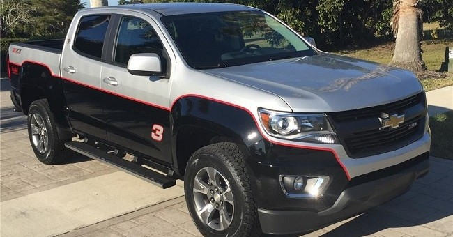 Custom Dale Earnhardt Chevy Colorado Auctioned Off for $48,400 - The News Wheel