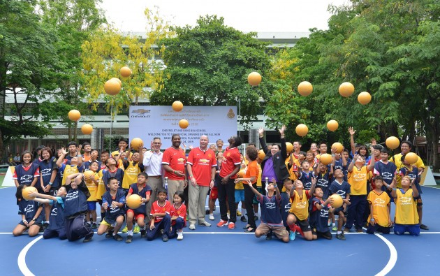 On Friday, Chevrolet unveiled a brand new community football pitch at the Bang Bua School in Bangkok, Thailand