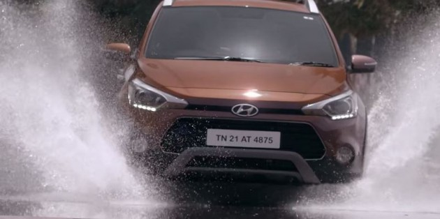 Hyundai India Commercial for i20 Active water splash
