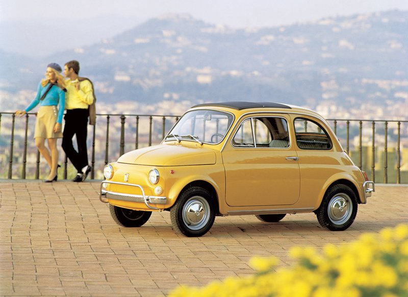 Lupin the Third's Iconic Yellow 1957 Fiat 500 special edition