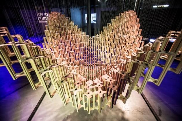 Milan Design Week 2015 Hyundai's Helio Curve Art Installation
