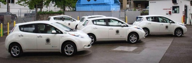 Seattle is going to use 28 Nissan LEAF police cars to cut down on gas lost while idling