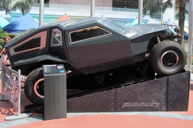 Shaw Jason Statham Fast Attack Buggy side black villain car