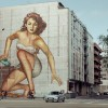 UK Commercial for Hyundai i20 street art 50 foot woman
