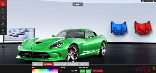 The pretty bold green we went with on the online Viper GTC customizer