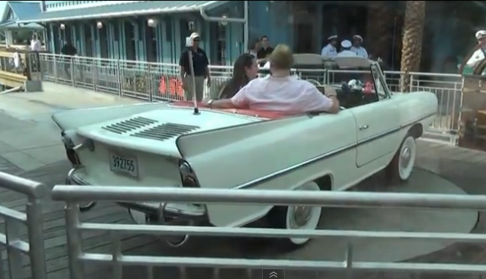 Amphicars at Downtown Disney