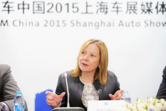 Mary Barra at Auto Shanghai 2015