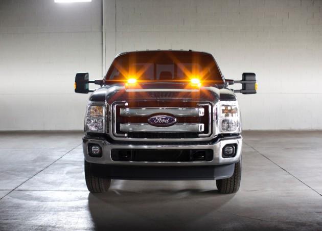 strobe warning LED light kit for all 2016 Ford F-Series Super Duty pickup trucks