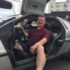 Doug Menkaus in his restored DeLorean DMC-12