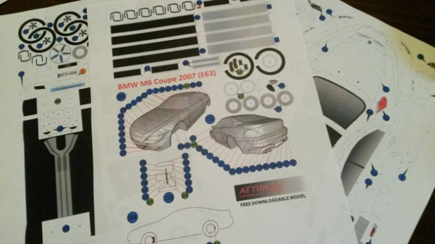 2007 BMW M6 Coupe Papercraft template