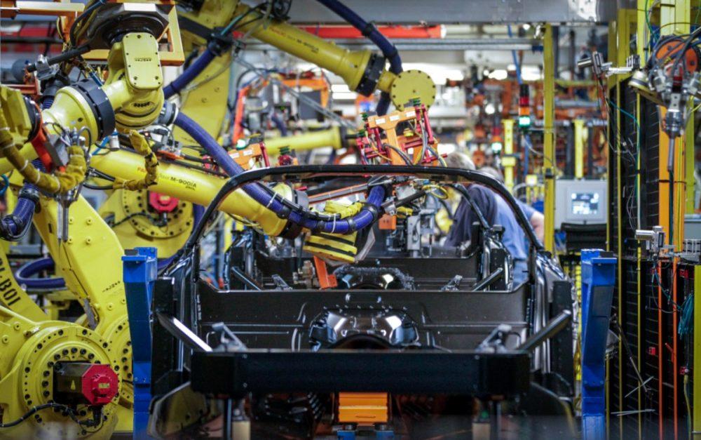 Corvette assembly line in Bowling Green, Kentucky