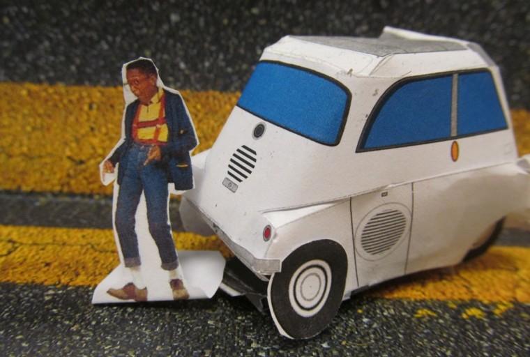 BMW Isetta Papercraft car template Urkel