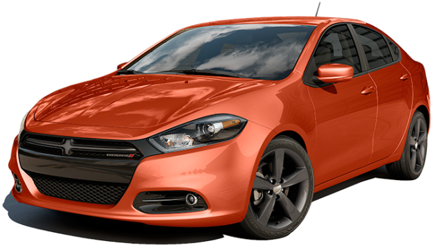 The 2015 Dodge Dart in Vitamin C - best exterior colors offered by Dodge