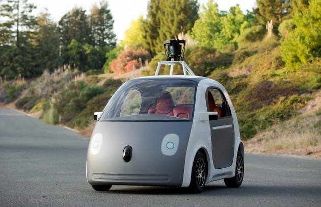 Google self-driving car old prototype