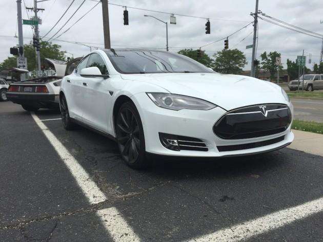 A 2015 Tesla Model S was also in attendance
