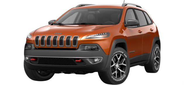 The 2015 Jeep Cherokee Trailhawk in Mango Tango - Best exterior colors offered by Jeep