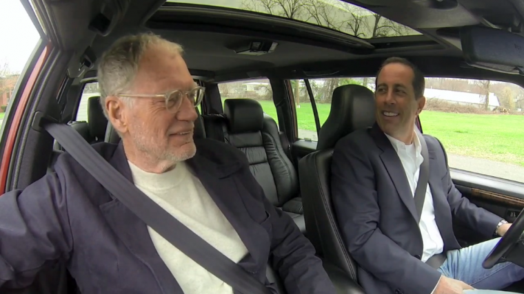 Seinfeld drives Letterman's 380 hp Volvo station wagon