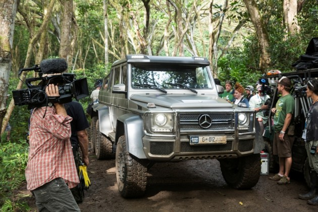 Jurassic World Mercedes Benz sponsorship promotion G63 AMG 6X6