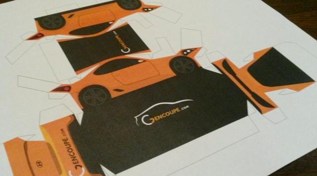 make your own hyundai genesis coupe papercraft car