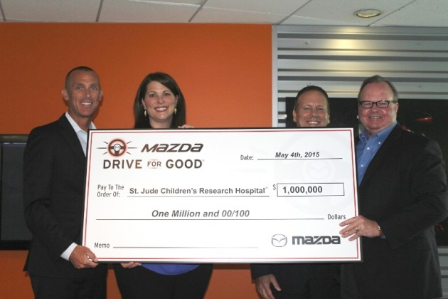 Mazda Drive for Good Donates $1 million to St. Jude