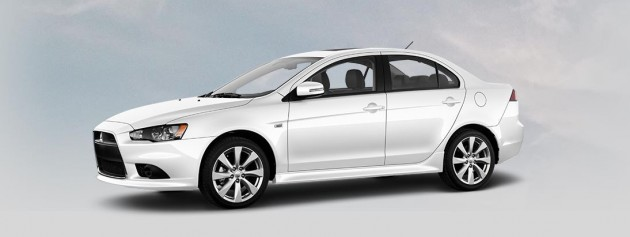 Best exterior colors offered by Mitsubishi - Mitsubishi Lancer in Wicked White
