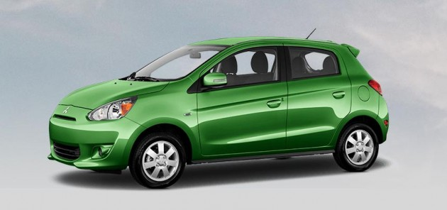 Best exterior colors offered by Mitsubishi - Mitsubishi Mirage in Kiwi Green