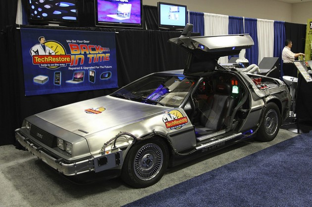 The Life, Death, and Legend of the DeLorean DMC-12 display