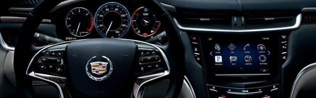 The center console has a smooth and clean look.