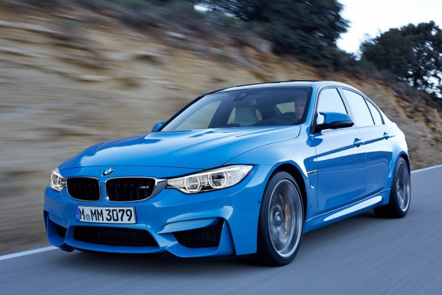 2015 BMW M3 information blue front end