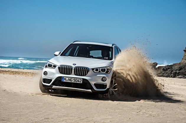 2016 BMW X1 photos turning exterior beach