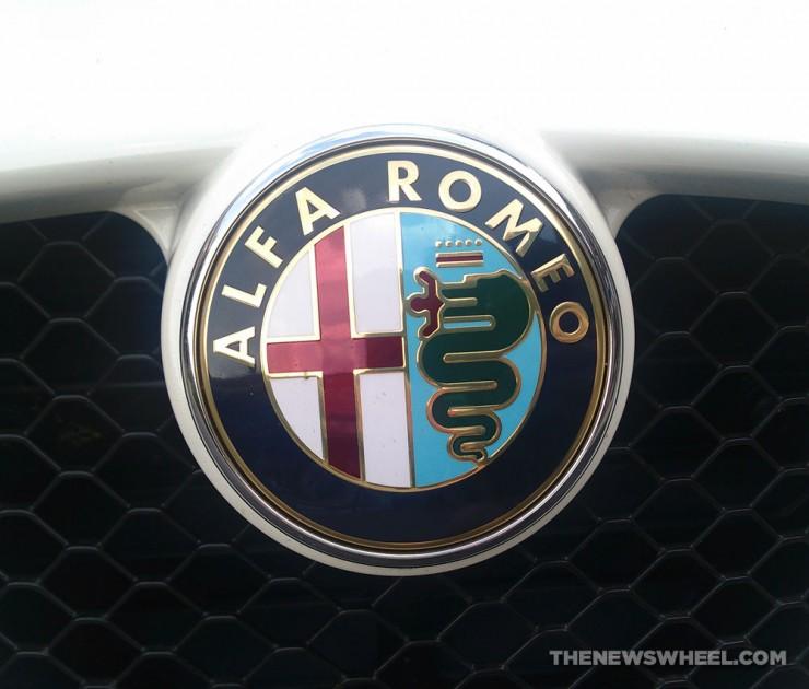 Alfa Romeo badge logo snake eating man