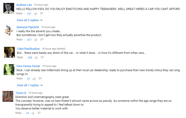 #ChevyGoesEmoji video youtube comments