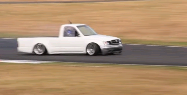drifting Toyota Hilux