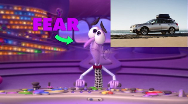 Fear Inside Out Car
