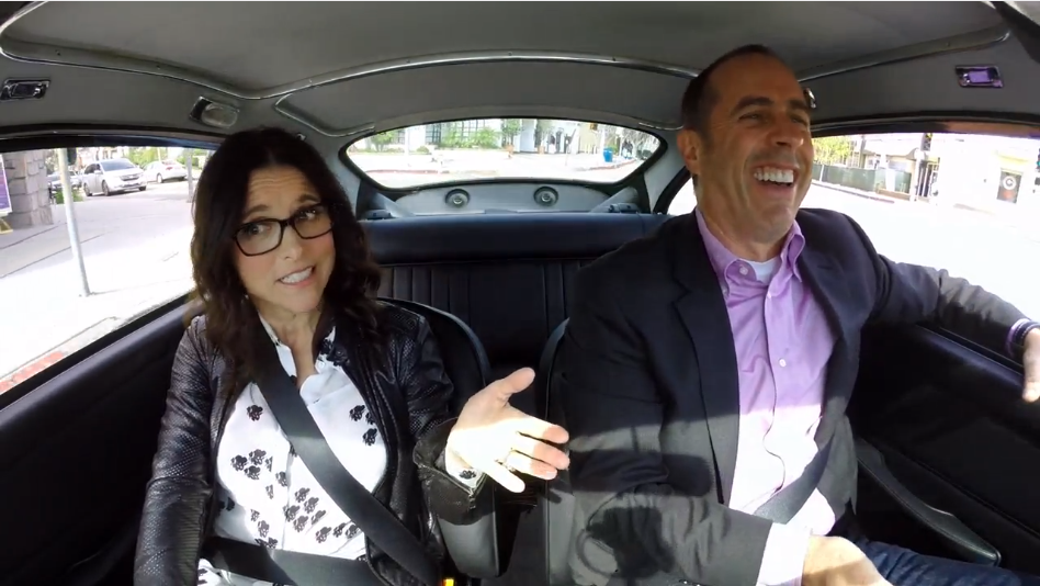 Jerry Seinfeld And Julia Louis Dreyfus Drive James Bond S