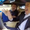 Jim Carrey and Jerry Seinfeld in a 1976 Lamborghini Countach