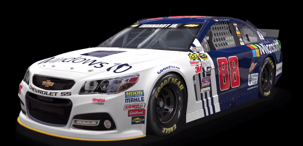 How Much Is A Car Paint Job >> [PICTURES] Microsoft Announces Dale Earnhardt Jr. Will Drive Windows 10 Racecar - The News Wheel