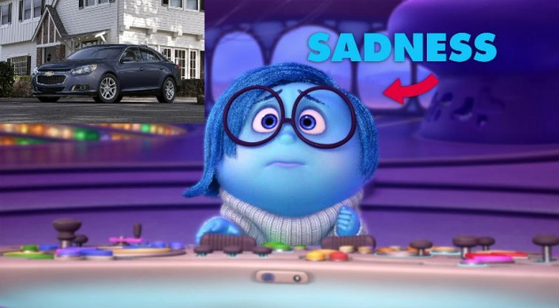 Sadness Inside Out Car