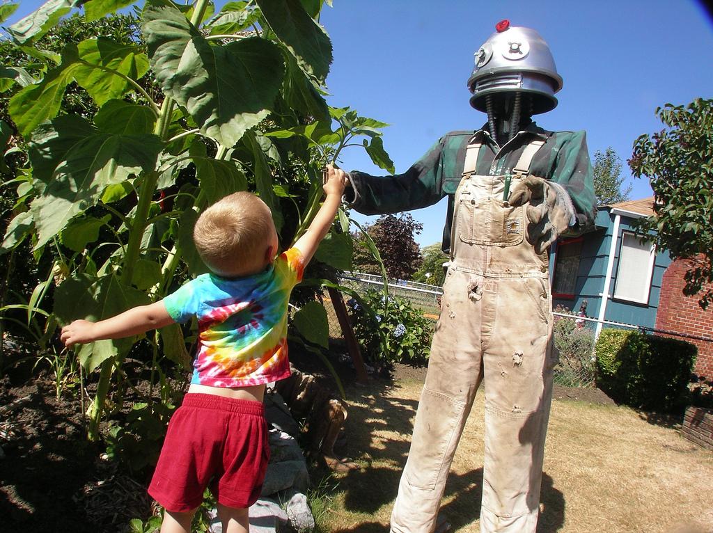 robot scarecrow