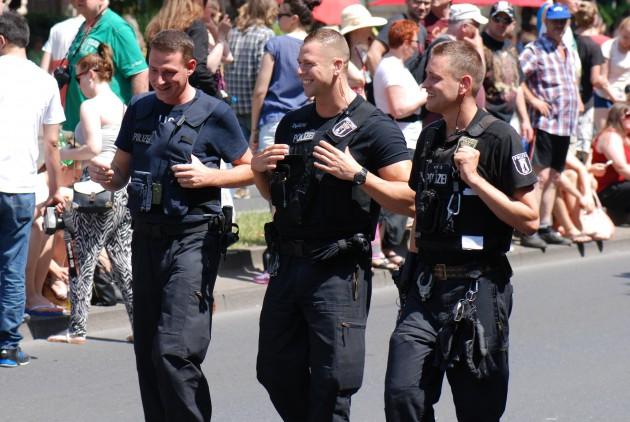 laughing policemen