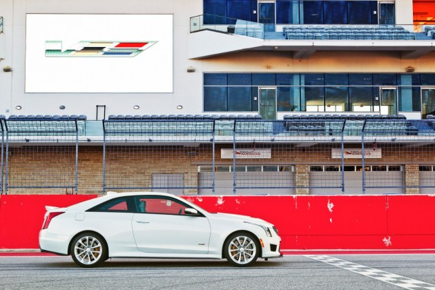 2016 Cadillac ATS-V at the race track