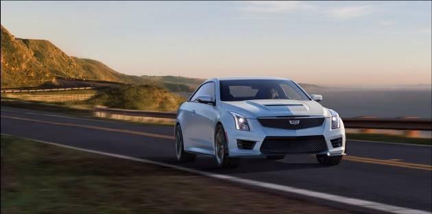 2016 Cadillac ATS-V driving along shoreline