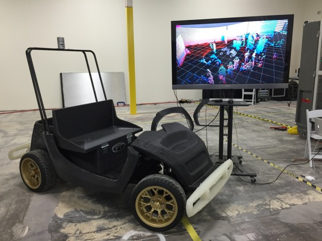 The 3D-printed cars will be tested by university researchers.